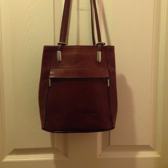 Valentino Backpack Criss Cross Straps Guido With You Can Or Wear Straight Authentic Leather Rare Bags