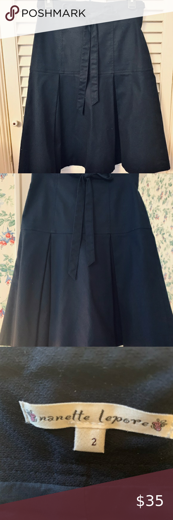 Nanette Lepore Navy Skirt In 2020 Navy Skirt Clothes Design Outfits