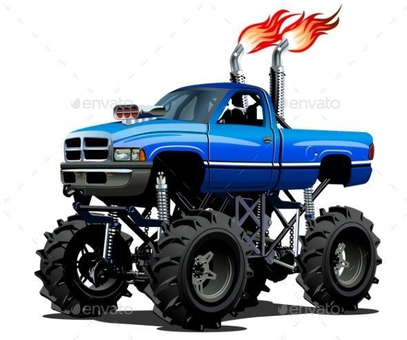 Resultado De Imagem Para Monster Truck Cartoon Monster Trucks Lifted Trucks Monster Truck Drawing
