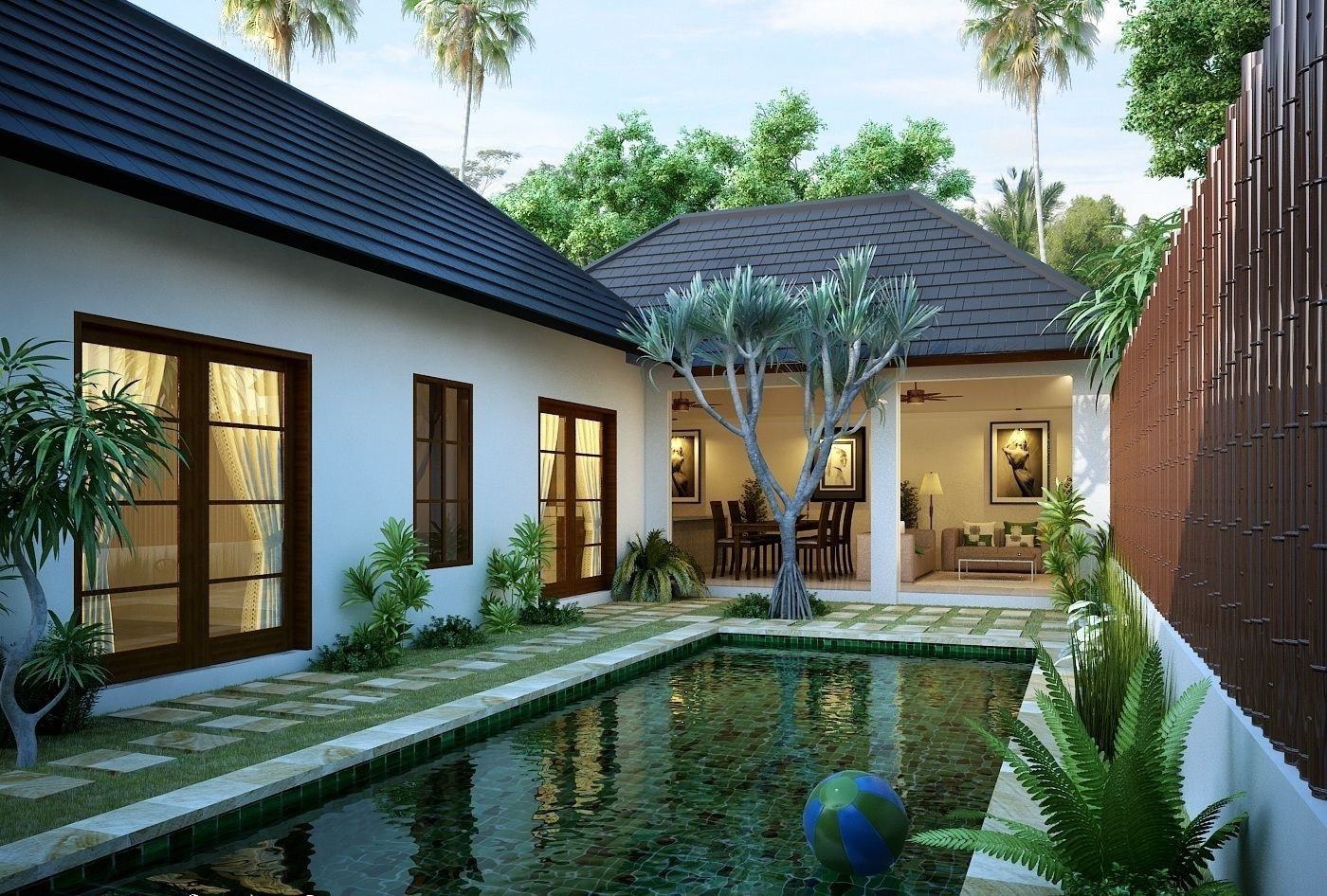 beautiful modern tropical exterior house design 2014 | house