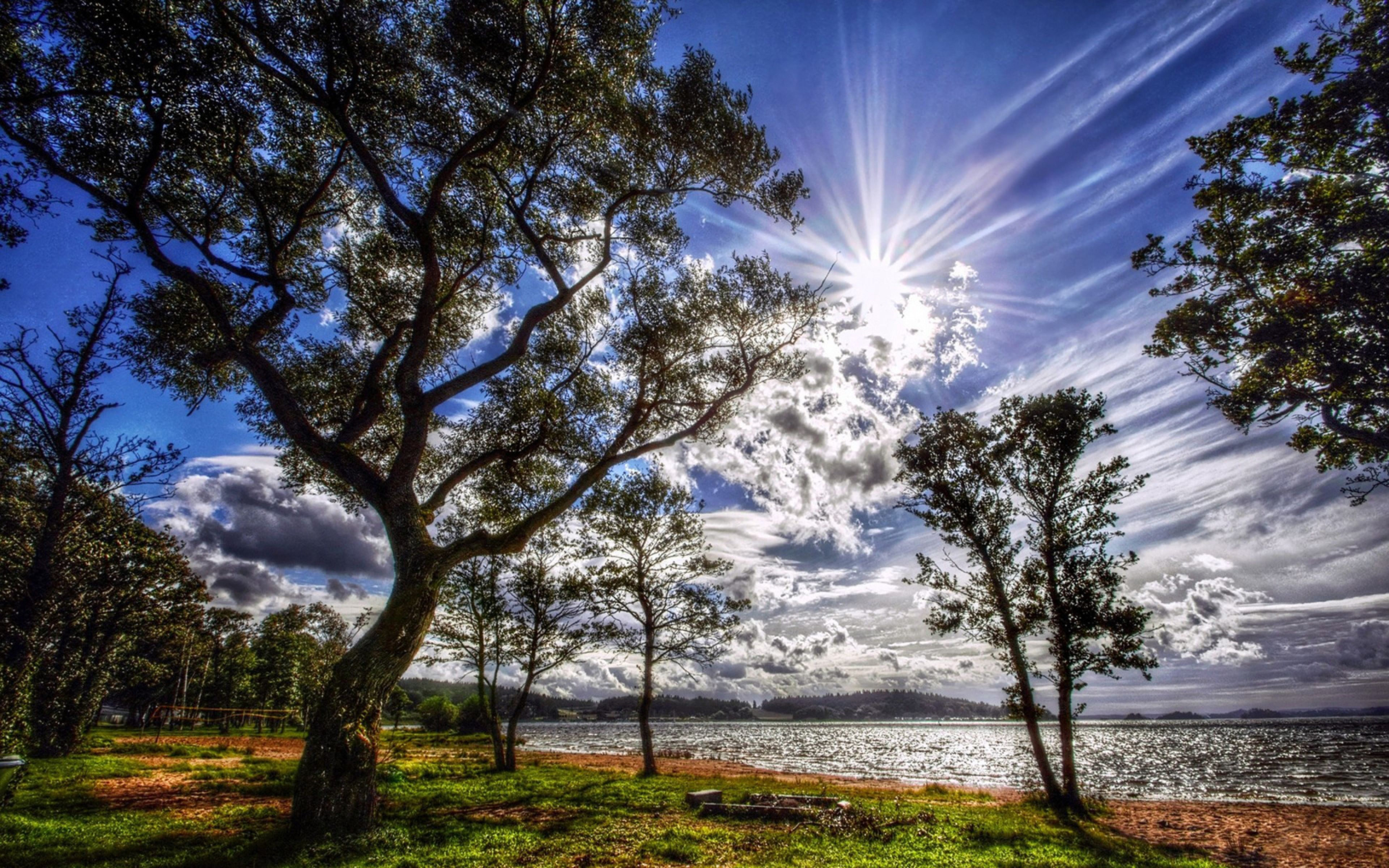 Spring Morning Clouds Nature Wallpaper Screen Savers Wallpapers