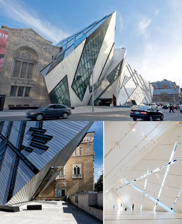 Daniel libeskind the crystal addition to the royal for Daniel libeskind architectural style