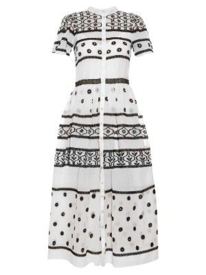 Lizette Organdy cotton and silk-blend dress | Temperley London |  MATCHESFASHION.COM US