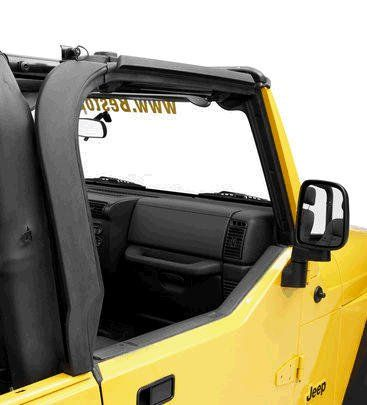 Bestop 55012 01 Door Surround Kit And Tailgate Bar For 97 06 Jeep