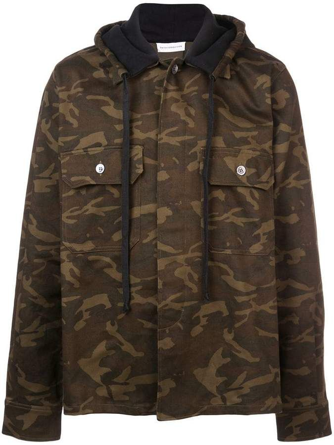 b8d846e58e6cc Faith Connexion camouflage print hooded jacket in 2019 | Products ...