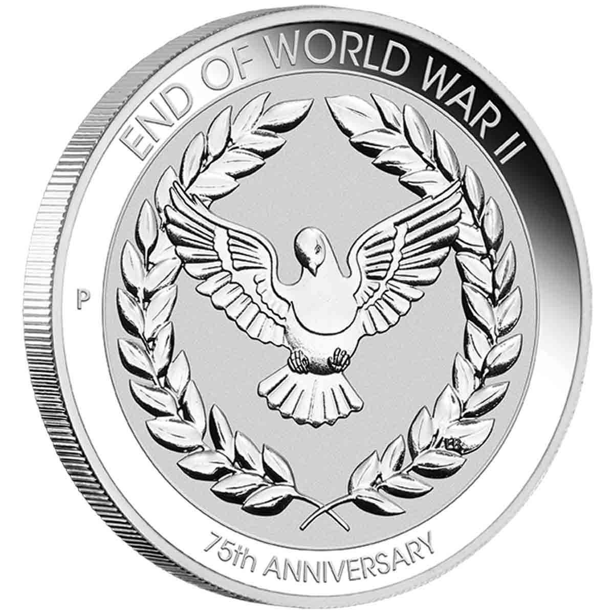 2020 END OF WORLD WAR ll 75th ANNIVERSARY 10 CENTS Coin