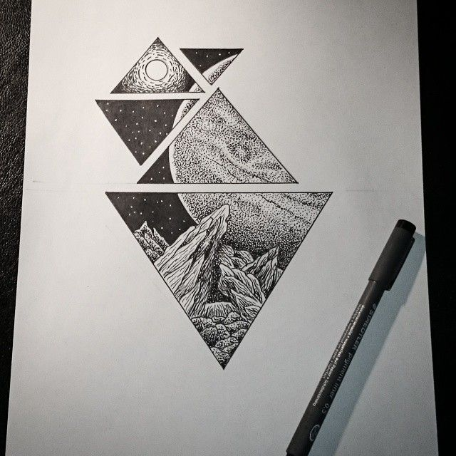 Pin By Ember Leung On Paisagens Tattoo Ink Art Sketches Drawings