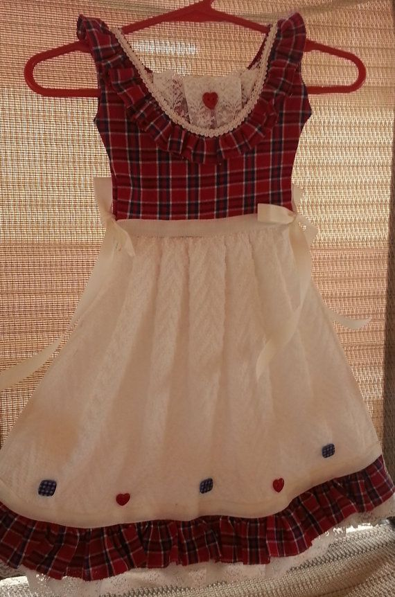 0e3acbe0308f Country Plaid Design in Red White and Blue Kitchen Oven Dress Dish ...