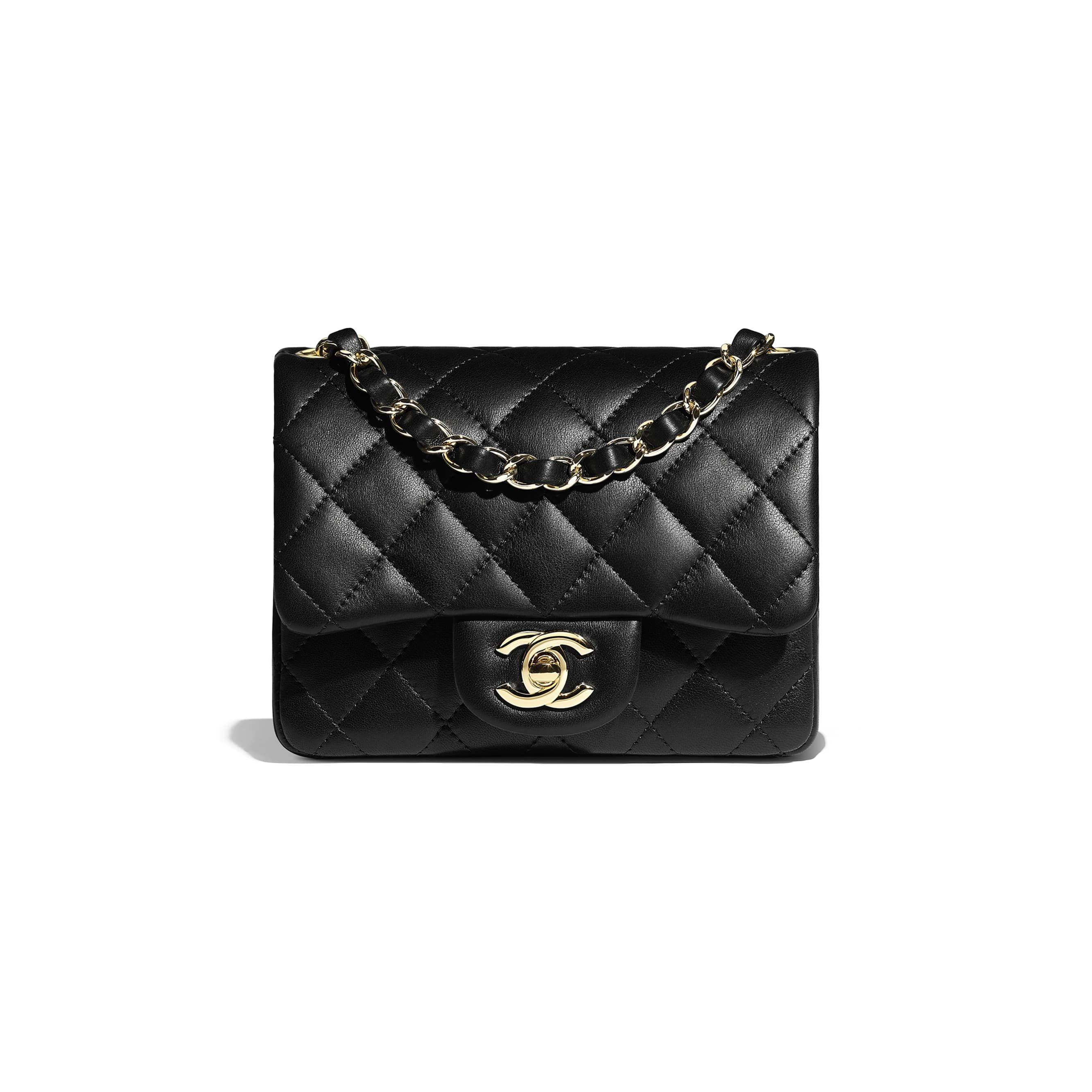 f66e06f800 Mini Flap Bag - Black - Lambskin   Gold-Tone Metal - Default view - see  standard sized version