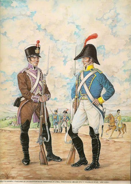 Fusilier of Regt Inmemorial del Rey & Fusilier Regt Valencia 1814
