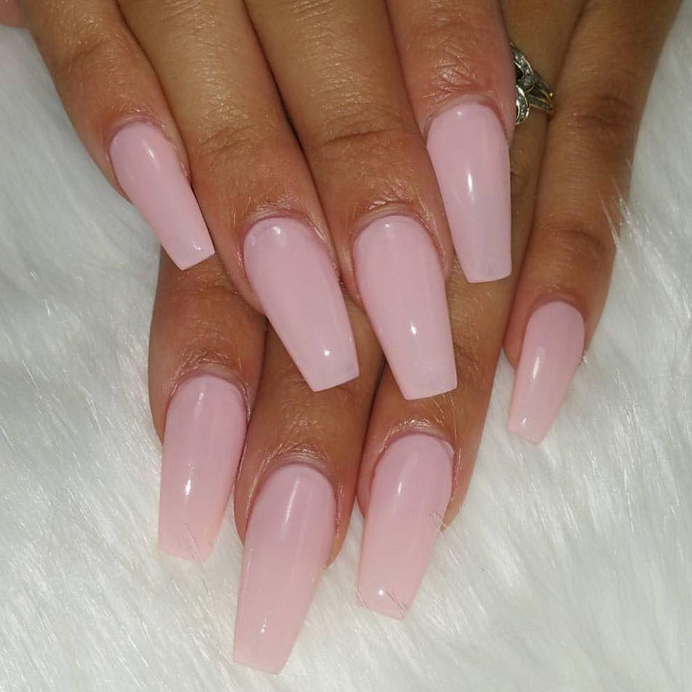 T H E N A I L B A R On Instagram Pink Ballerina Acrylic Nails Ballerina Acrylic Nails Tapered Square Nails Long Square Nails
