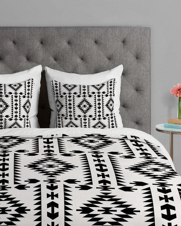 Tribal Geometric Pattern Black And White Duvet Cover Bed Decor Bed Linens Luxury Geometric Bedding