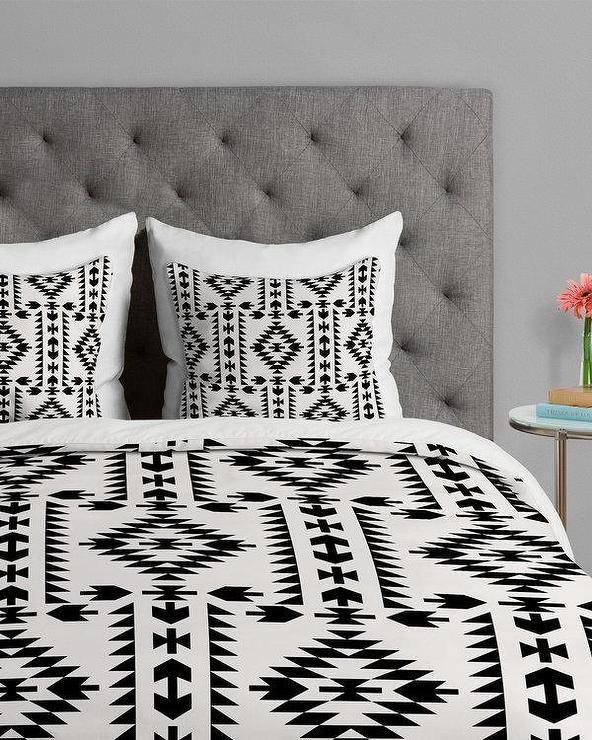 Tribal Geometric Pattern Black And White Duvet Cover Bed Decor