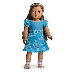 Shoes Headband Lot American Girl Truly Me Blue Rhinestone Studded Dress