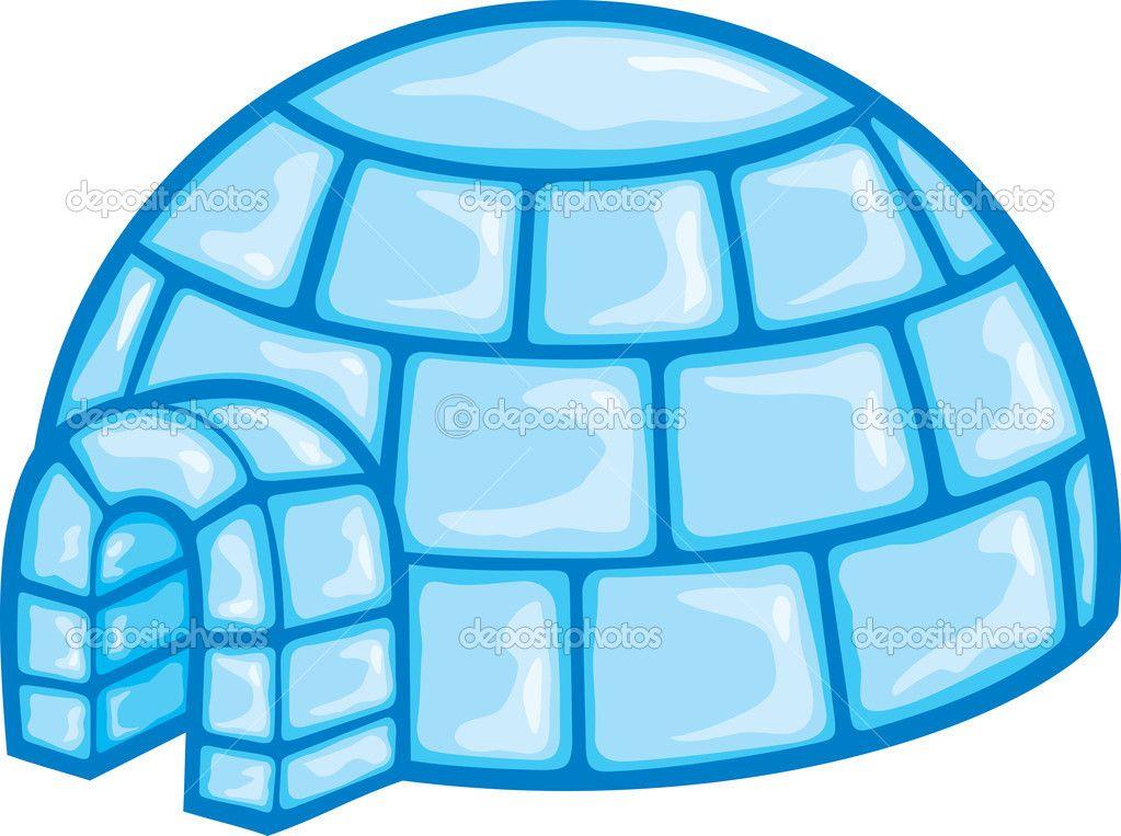Illustration Of A Igloo (cartoon Illustration Of A Igloo