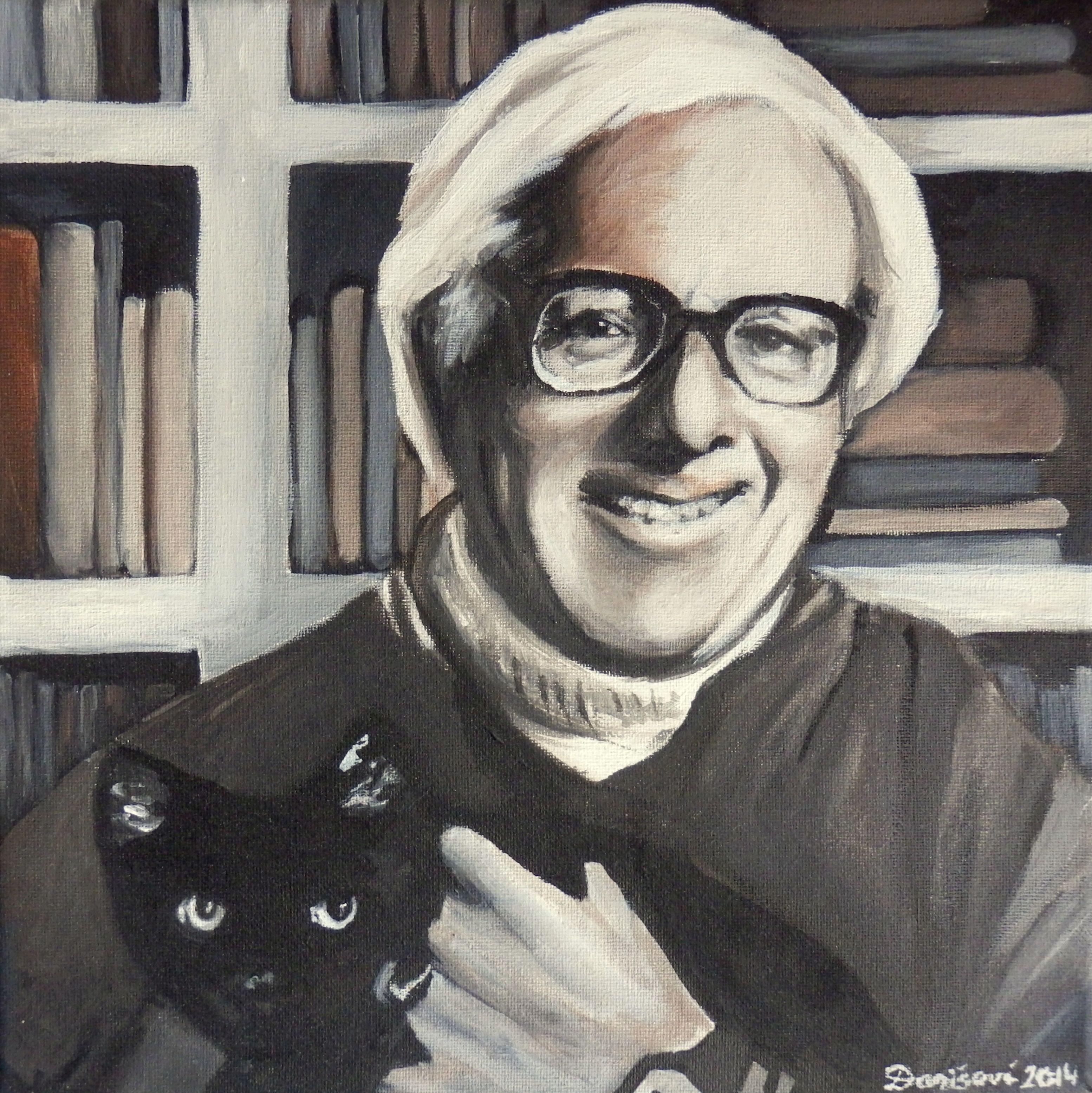 portrait of Ray Bradbury,  akryl on canvas, 30cmx30cm