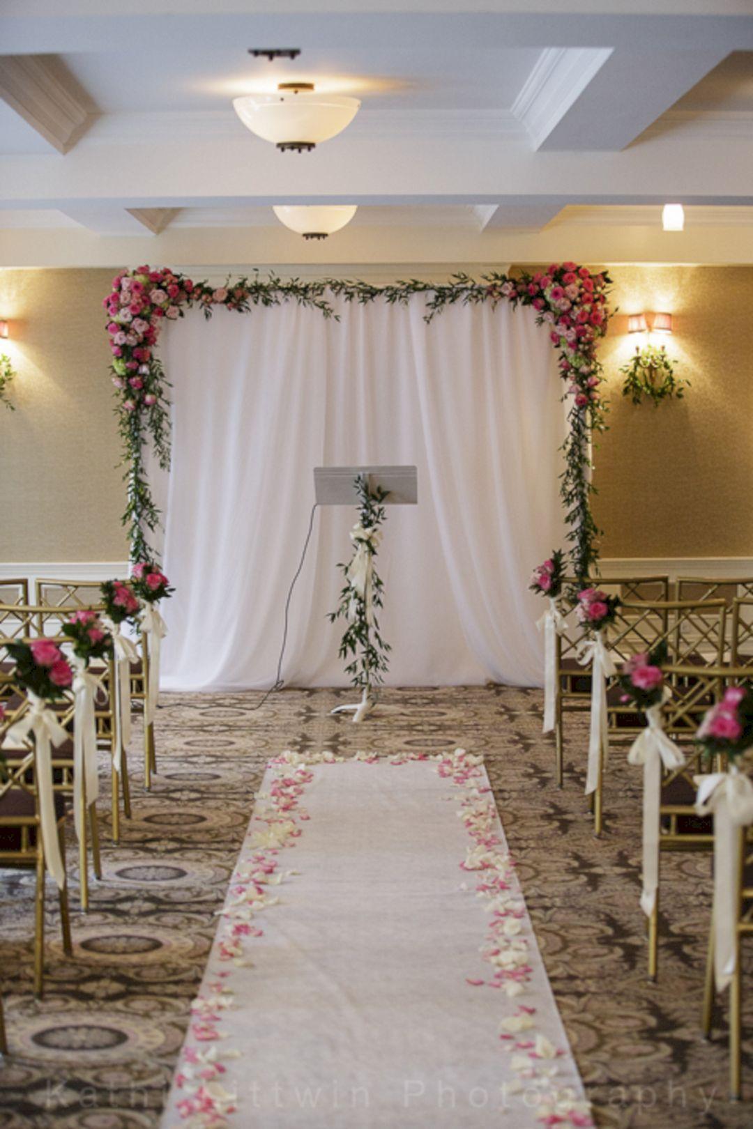 30 Simple Wedding Backdrop Ideas For Your Wedding Ceremony  decoration  Wedding reception