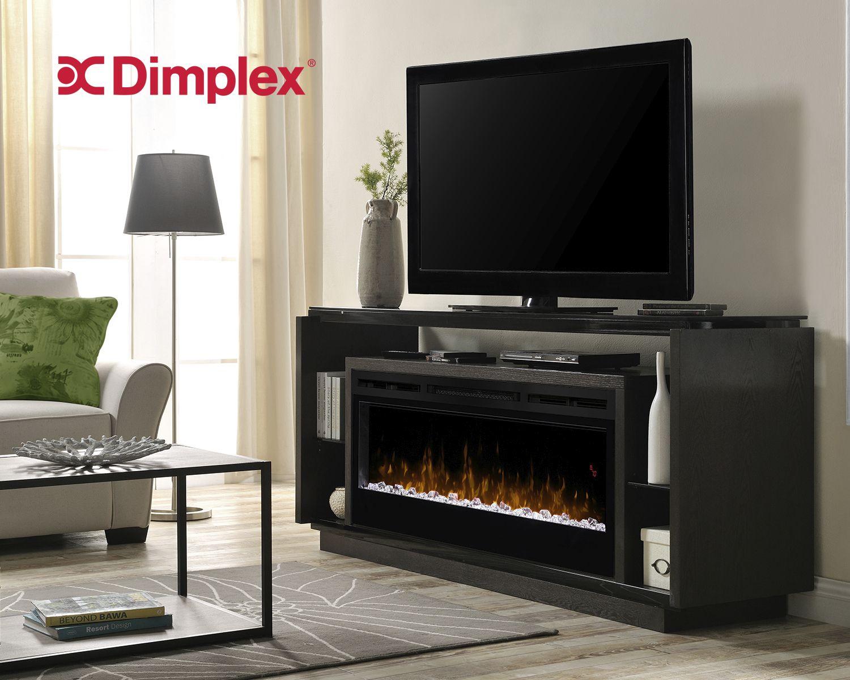 David Media Console Dimplex Electric Fireplace Tv Stand