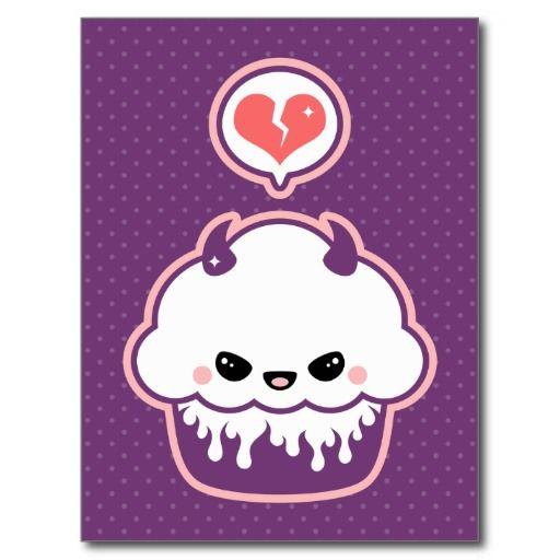 Cute Evil Cupcake Postcard | Evil art, Kawaii