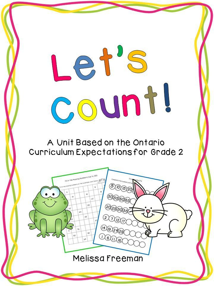 Counting Unit For Grade 2 Ontario Curriculum Number Sense