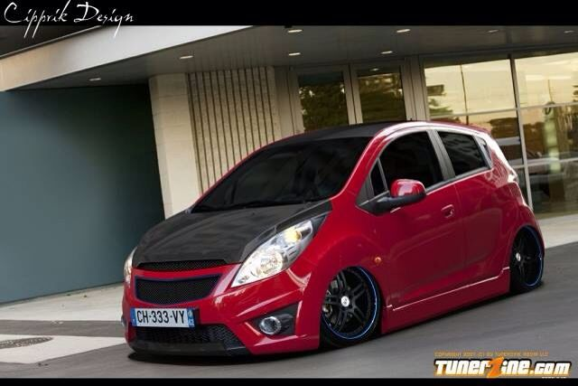Lindoo Red Chevrolet Spark Chevrolet Gt Cars