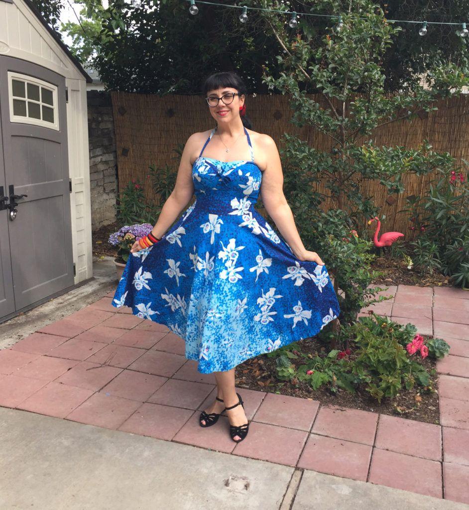 Hawaiian vintage dress for Spring!
