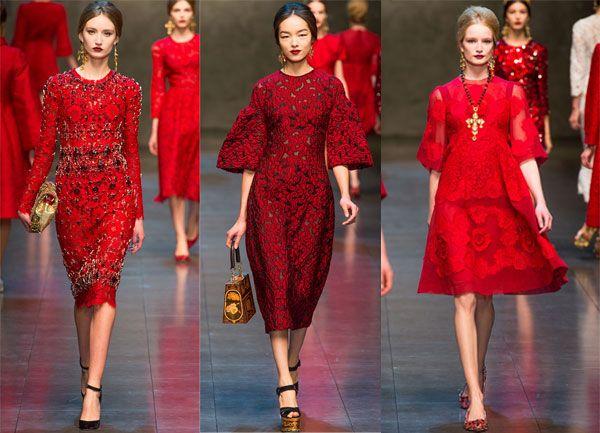Платья от дольче габбана красного цвета