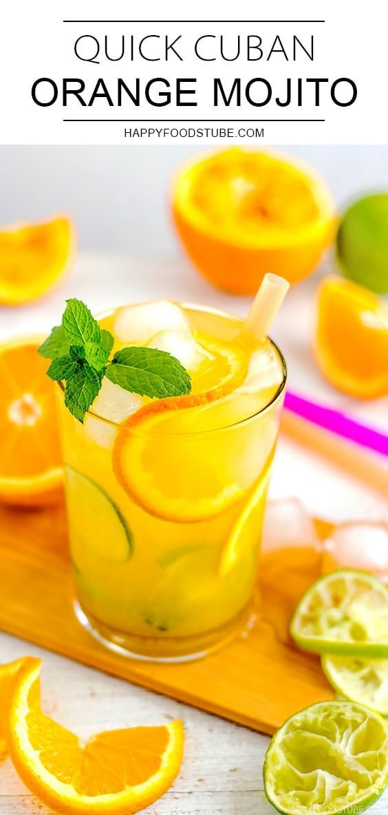Quick Cuban Orange Mojito Recipe - Happy Foods Tube