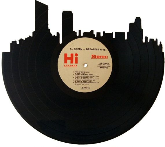 Grand Rapids Skyline Silhouette Vinyl Record Wall By