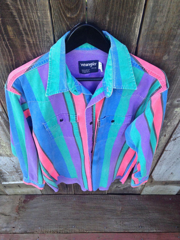 d355b9bf Vintage Wrangler Rodeo Polo Shirt, 90s Wrangler Cowboy Polo ...