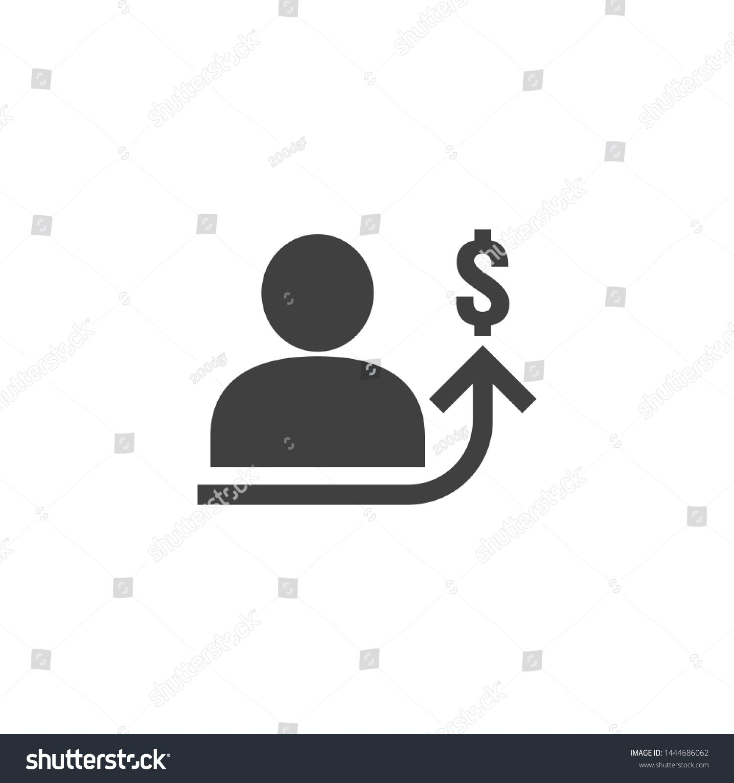 Employee Salary Increase Icon On White Background With People Arrow Up Graphic And Dollar Money Symbol Raise In 2020 Finance Investing Investing Money Investing Apps