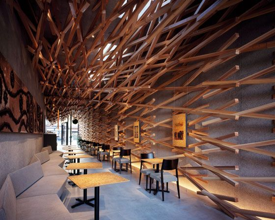 Starbucks cafe in Japan, kyoto