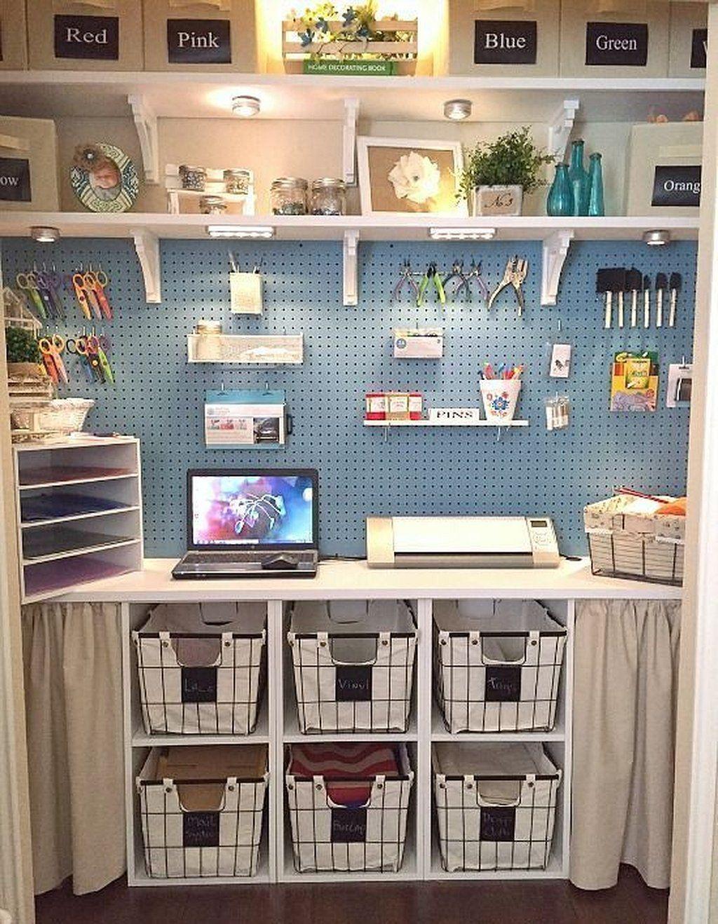Best 12+ Creating Craft Room organization Ideas #craftroomideas
