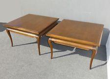 Pair of Beautiful Vintage Mid-Century Modern Carved Walnut END...