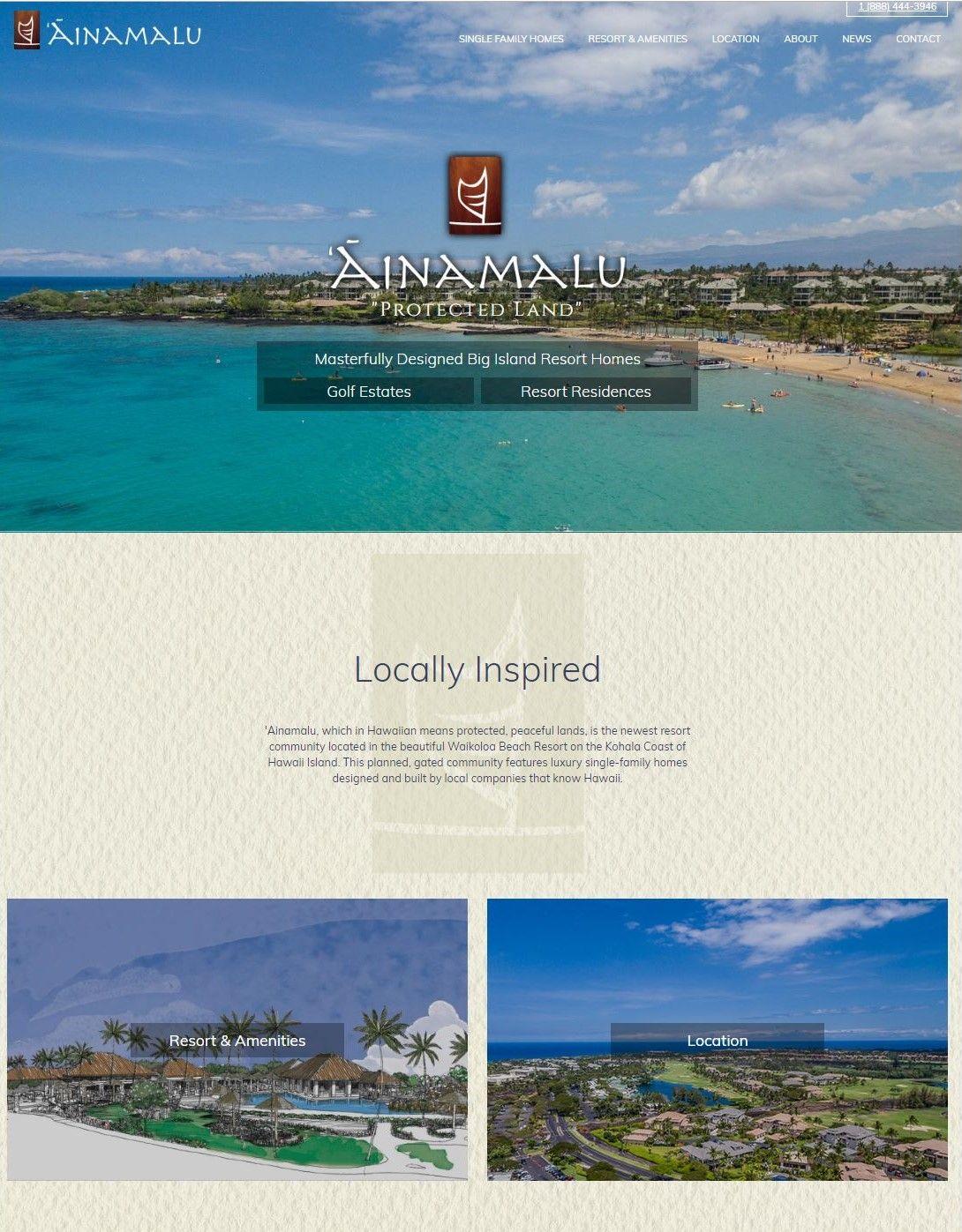 Hawaii Web Site Design Ainamalu Site Design Interactive Sites Website Design