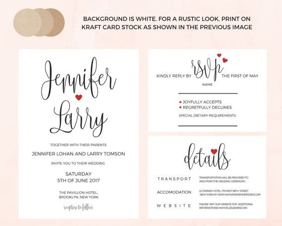 Wedding Invitation Template Download Wedding Invitations  AmyS