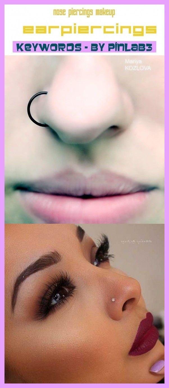 Nose piercings makeup Makeup für Nasenpiercings  maquillage piercings nez  maquillaje piercings en la nariz  nose piercings stud nose piercings hoop nose piercings t...