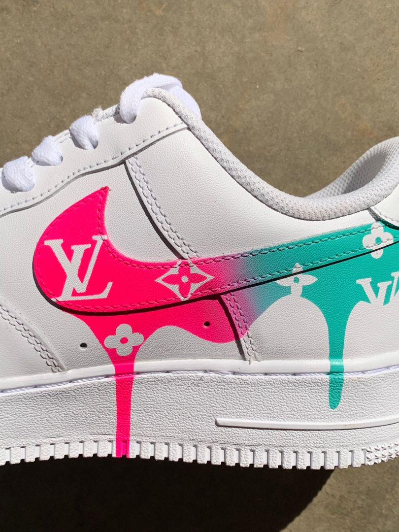 LV Air Force 1 in 2020 Nike shoes air force, Nike shoes