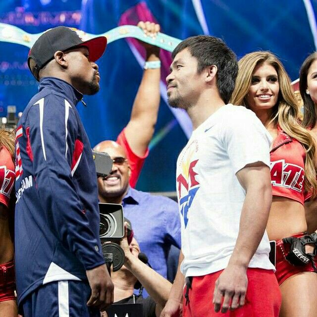 What a weigh-in! #MayPac