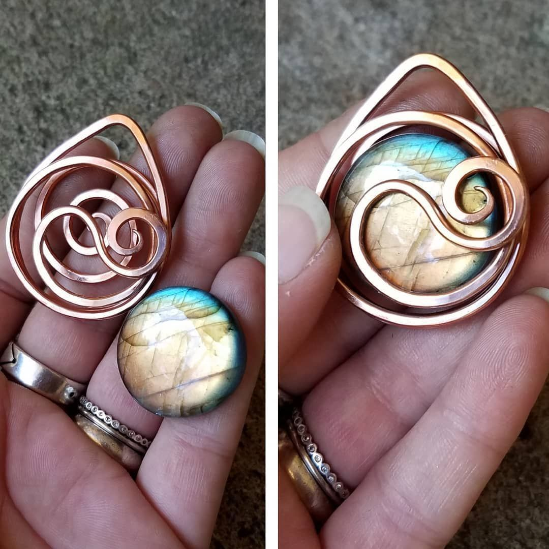 "ZDArtisanJewelry on Instagram: ""🌱💙WIP! New pendant coming up, with a beautiful round labradorite! Trying new designs w one hammered thick wire strand. Now to wrap key…"" -  🌱💙WIP! New pendant coming up, with a beautiful round labradorite! Trying new designs w one ha - #Beautiful #coming #designs #eyeglassesframes #glassesforframes #glassesframes #glassesframesclear #glassesframesmen #glasseswithclearframes #glasseswithframes #hammered #howtowirewrapjewellery #instagram #Key #labradorite #pend"