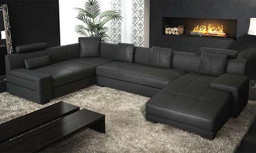modern natuzzi leather sectional