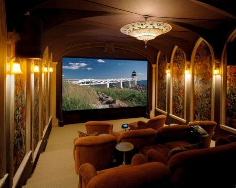 Exceptional Home Theater Interior Design