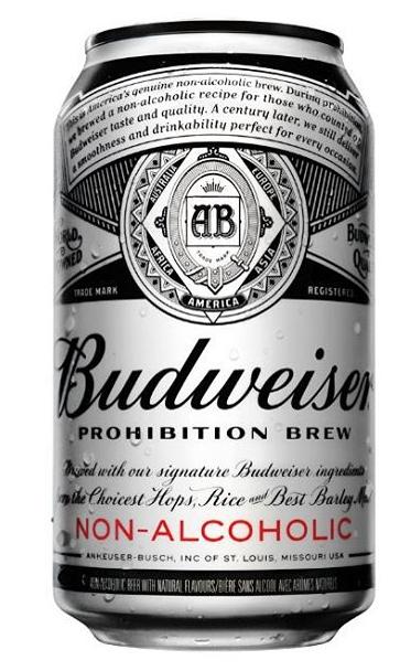 Budweiser Prohibition Brew Non Alcoholic Beverage Cerveza
