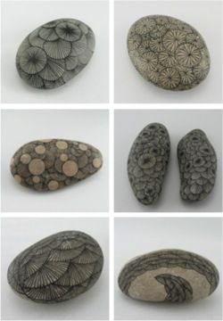 Crease — labelleabeille: Drawing on stones by Yoran...