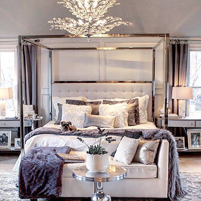 Luxury Bedroom Furniture Mirrored Night Stands White Headboard Bedrooms Pinterest Furniture Luxurious Bedrooms And Bedroom Furniture