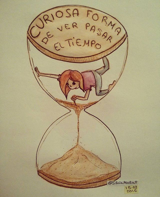 ¿Dejas escapar el tiempo? #undibujoparacadadía #51 #dailydraw #scketchbook #dibujando #tiempo #dia #pasareltiempo #doodle