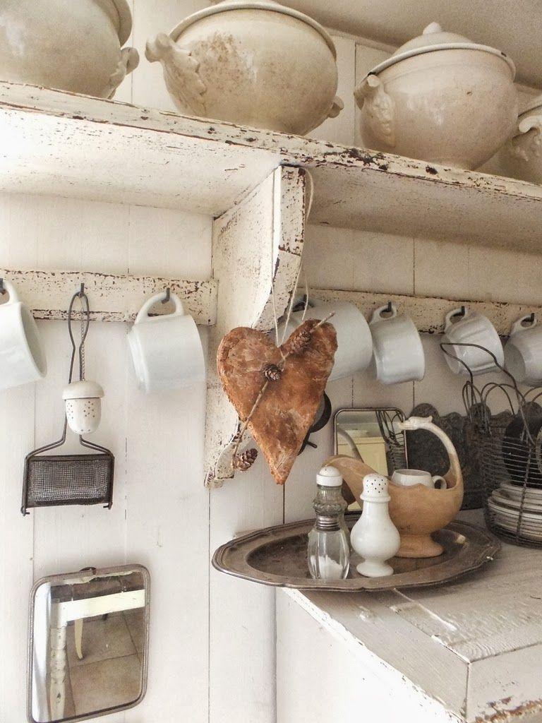 Pin Von Marianne Venter Auf Enamel Rustikales Haus Dekor Shabby Chic Kuche
