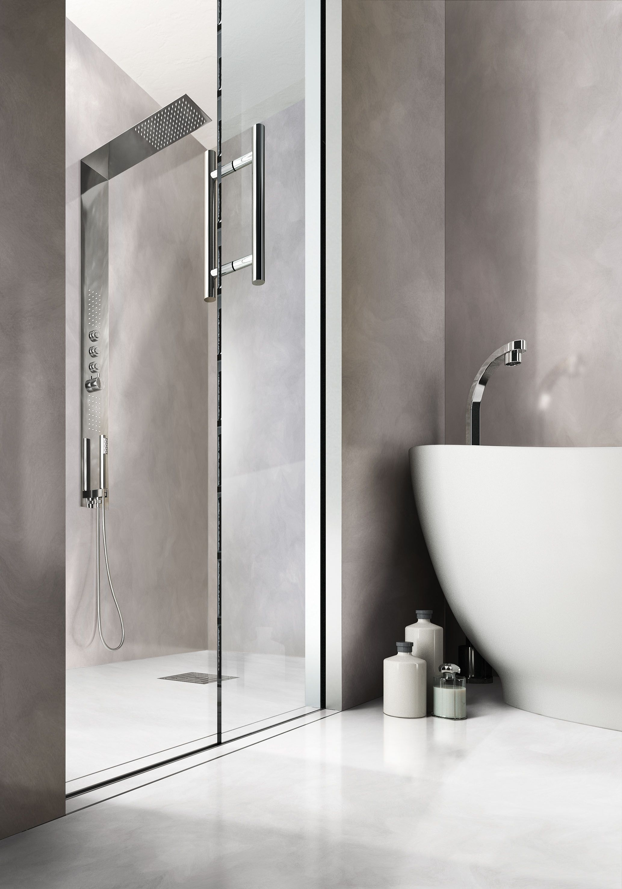 Scrigno Essential porta scorrevole per doccia è capace di garantire ...