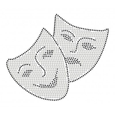$12 Rhinestone drama masks car decal. Let your pride shine