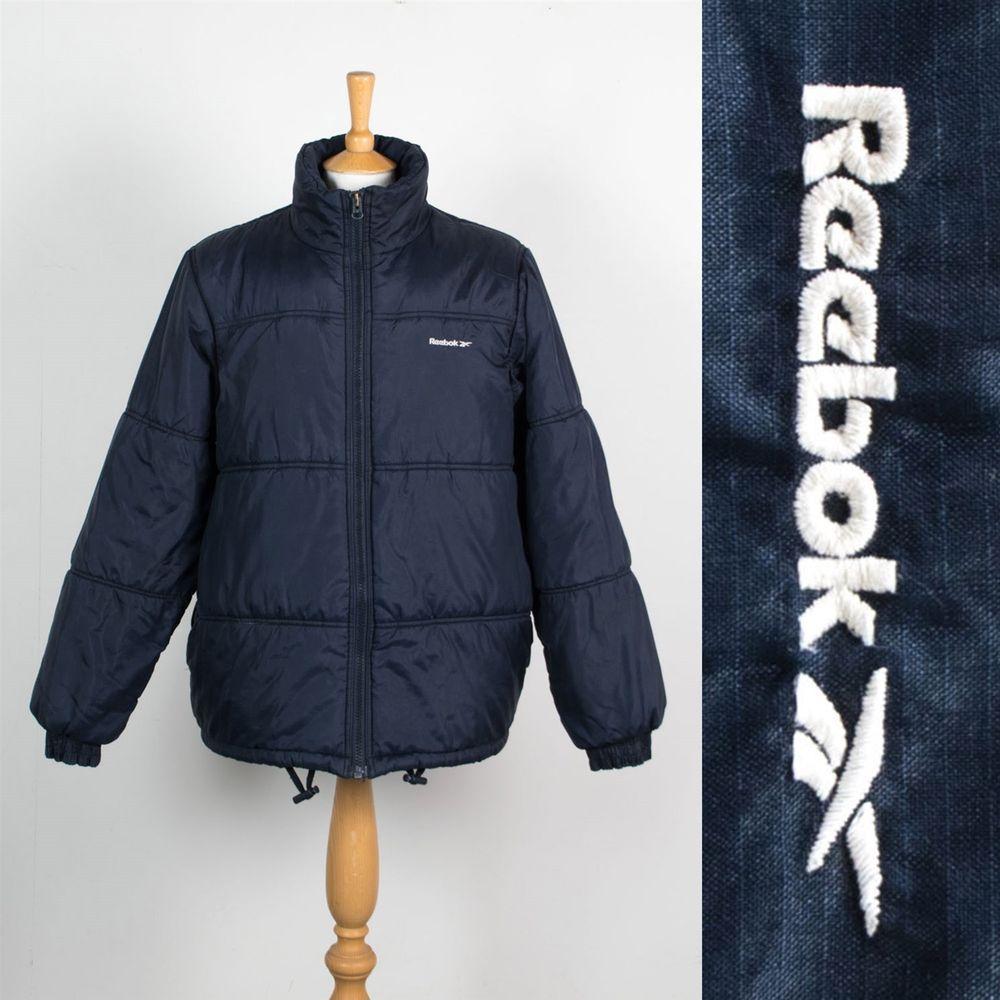 Vintage 90 S Y2k Reebok Puffa Jacket Puffer Coat Warm Padded Winter Wavey M Jackets Puffer Coat Winter Jackets [ 1000 x 1000 Pixel ]